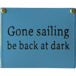 New England Style - Gone sailing - be back at dark
