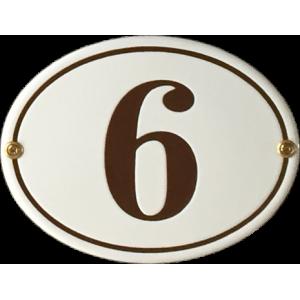 Oval nummerskylt