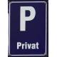 Parkeringsskylt Blå - P Privat