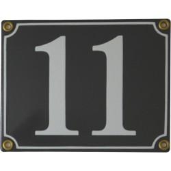 Emaljskylt rektangulär - Nummerskylt 11