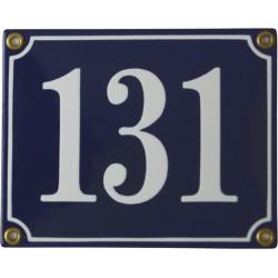 Emaljskylt rektangulär - Nummerskylt 131