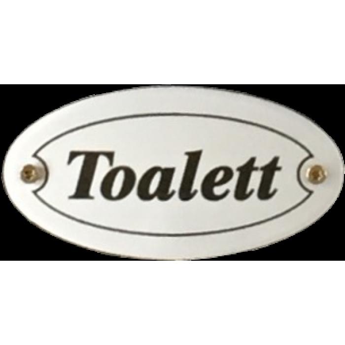 Helt nya Oval skylt - Toalett SK-61